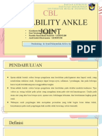 CBL INSTABILITY ANKLE JOINT