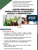 Aceites Esenciales e Hidrolatos-AGROINDUSTRIA UNMSM