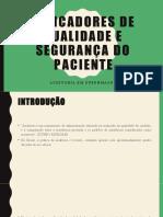 Carlos Rafael Indicadores de qualidade e segurança do paciente