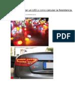 Como conectar un LED y como calcular la Resistencia