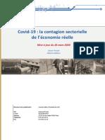 Covid19  la contagion sectorielle de l'économie réel