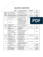 Analysis (Analize) & Tests (Teste)