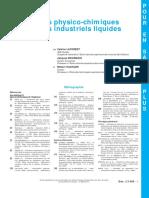 Traitements Physico-chimiques Des Déchets Industriels Liquides - Ti452Pesp-j3965.