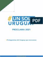 Proclama 2021 - Movimiento Un Solo Uruguay
