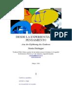 Heidegger, Martin - Desde La Experiencia Del Pensamiento