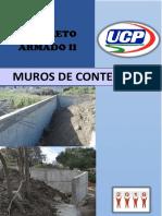 TRABAJO DE CONCRETO MUROS DE CONTENCION
