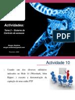 Actividades Tema 2 - Sistema de Controlo de acessoss