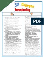 Dafür oder dagegen - home schooling