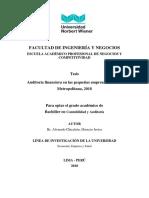 Auditoría financiera en las pequeñas empresas de Lima Metropolitana, 2018. nacional