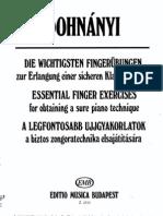 Dohnanyi-Essential finger exercises