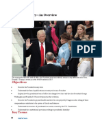 Lesson 1 The Presidency–An Overview