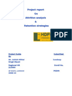 ATTRITION ANALYSIS & RETENTION STRATEGIES IN HDFC SLIC