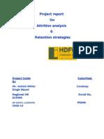ATTRITION ANALYSIS & RETENTION STRATEGIES IN HDFC SLIC