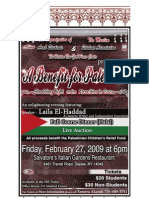 OAS_A Benefit for Palestine, Program Book