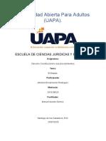 DERECHO CONSTITUCIONAL Y SUS PROC, TAREA I JOHANNA