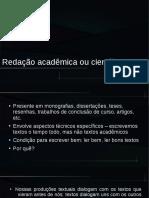 Redação científica ou acadêmica
