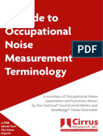 Occupational Noise Terminology Guide