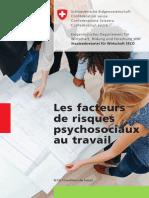 Les Facteurs de Risques Psychosociaux Au Travail (Format A4)