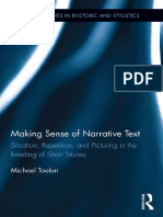 Michael Toolan - Making Sense of Narrative Text_ Situation, Repetition, And Picturing in the Reading of Short Stories