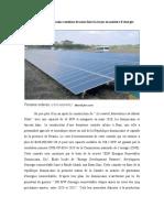 La République dominicaine continue de nous faire la leçon en matière d'énergie