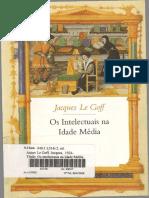 Jacques Le Goff - Os Intelectuais Na Idade Média