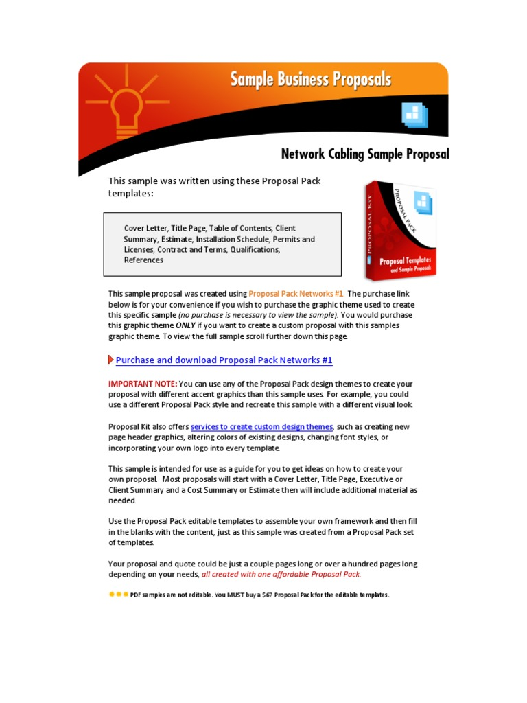 Sample network design proposal.