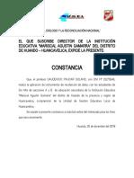 Constancia de Recoleccion de Datos-proyecto -2018