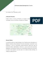 Ubicación de Provincia Santo Domingo de los Tsachilas