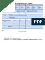 Intermediate Practice Template - Schedule Only
