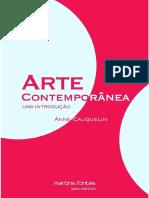 Arte Contemporanea Uma Introducao - Anne Cauquelin