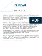 2014-01-15 - Jewish Journal Letter - A Response to the Head of the ADL