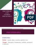 Consejo Psicologico vs Psicoterapia
