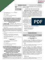 4 - Ley Que Deroga El Decreto de Urgencia 014-2020 Decreto de Urgencia Que Regula Disposiciones Generales Necesarias Para La Negociación Colectiva en El Sector Público