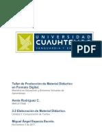 3.2 ELABORACIÓN DE MATERIAL DIDÁCTICO