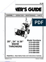 Snowblower Manual
