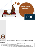 Value Added Taxes Part 2