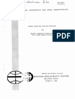 General Operations Plan and Proceedures for Recovery Quarantine Operations for a Lunar Landing Mission