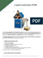 Cintreuse hydraulique R-H55 - PRO-Dis