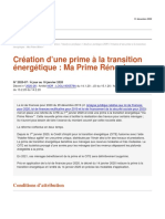 Analyse juridique de l'ANIL Prime a la transition energetique Ma Prime Renov