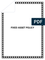 Policy Fixed Asset