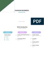 Fashion Business Syllabus