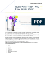 Coway Malaysia Water Filter- Why You Should Buy