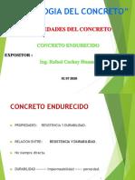 PROPIEDADES DEL CONCRETO ENDURECIDO PARA EXPONER - EC 612I - ING. RAFAEL CACHAY - 2020-1
