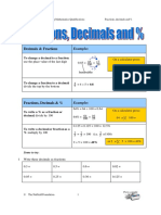FSMQ Fractions Decimals and Percentages