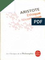 Aristote - Éthique à Nicomaque (Trad. Gomez-Muller)