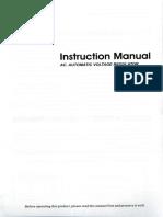 Automatic Voltage Regulator HOSSONI user manual