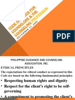 Code of Ethics for Philippine Counselors