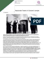 Il Coordinamento Nazionale Teatri in Carcere compie 10 anni - Angelipress.com, 24 gennaio 2021