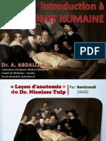 Introduction à l'Anatomie Humaine 2020-21 PDF