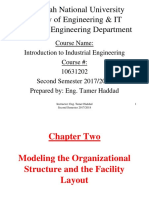 Chapter 2 - Modeling the Organizational Structure and the Facility Layout